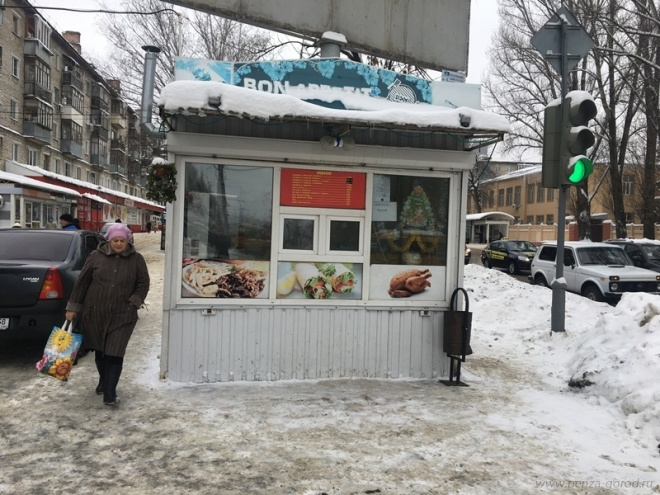 Сулицы Луначарского вПензе пропал киоск «Шаурма»
