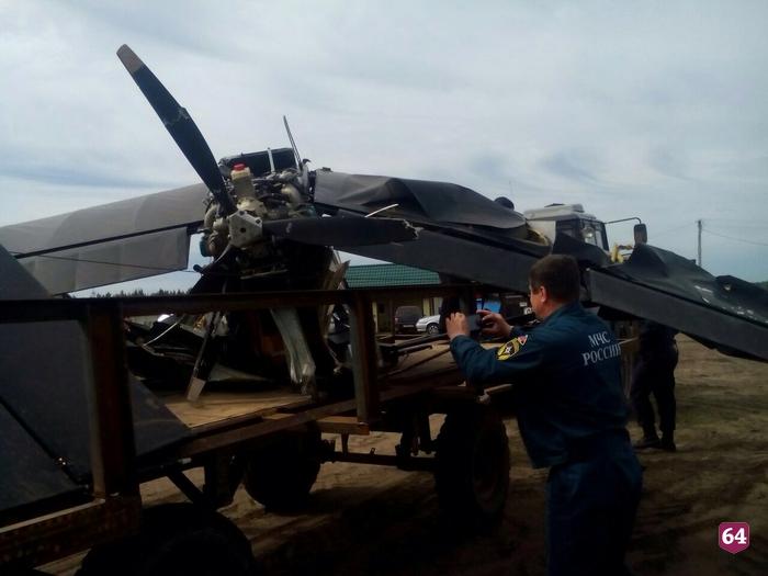 Летчик изПензенской области умер при крушении самолета под Вольском