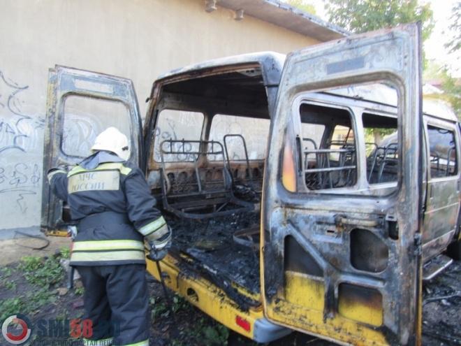 ВПензе наулице Пушанина сгорела грузовая «Газель»