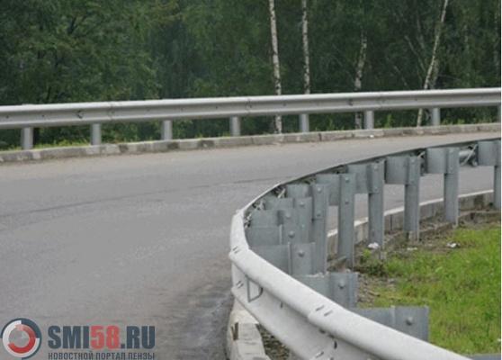 Гражданин пензенского поселка похитил натрассе 34 метра отбойника