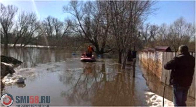 МЧС: В 3-х районах Пензенской области подтоплено 312 домов