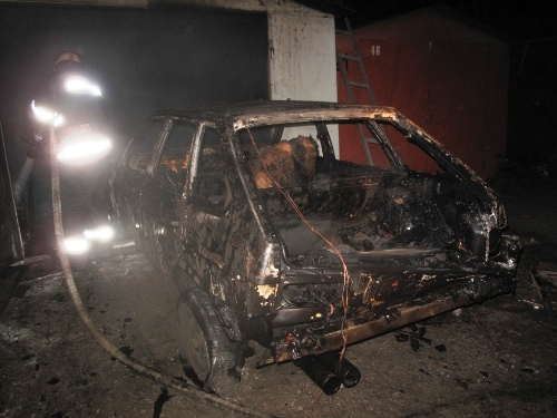 Вночь на12июня вПензе сгорел «ВАЗ»